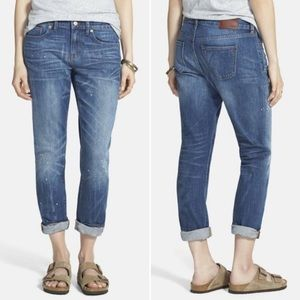 Madewell Slim Boyjeans With Paint Splatter-Size 27